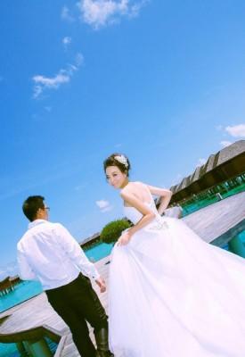 马尔代夫旅游婚纱客照之爱