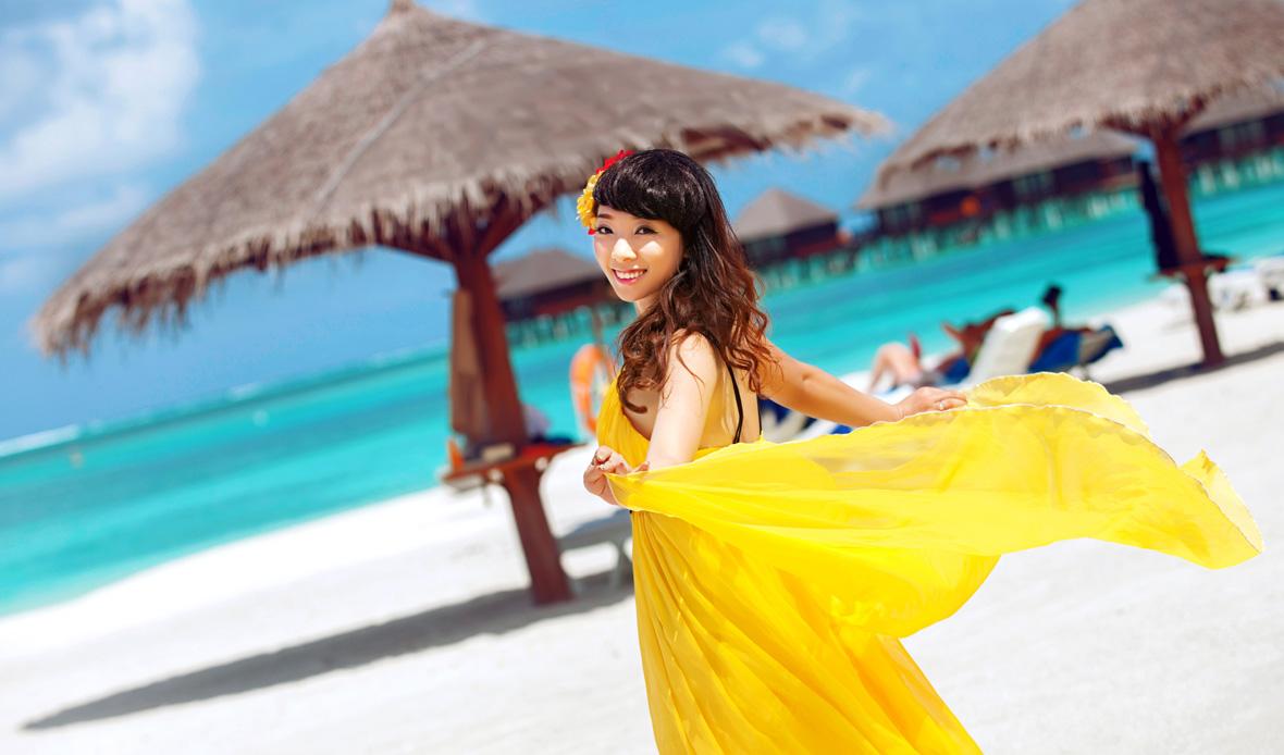 马尔代夫旅游婚纱客照之爱在阳光里(1)
