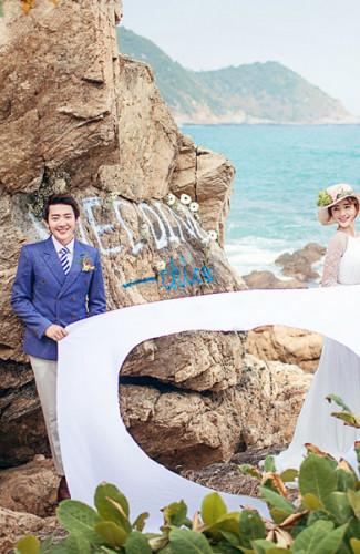 三亚旅游婚纱样照之西岸我们的爱