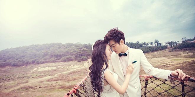 纯背景韩式婚纱照拍摄要点 七大风格盘点