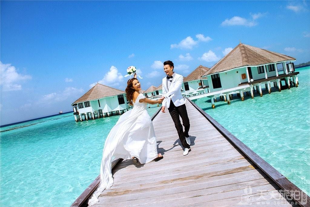 马尔代夫旅拍婚纱照之海景