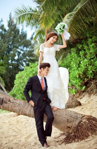 韩国济州岛旅拍婚纱照之海滩作品