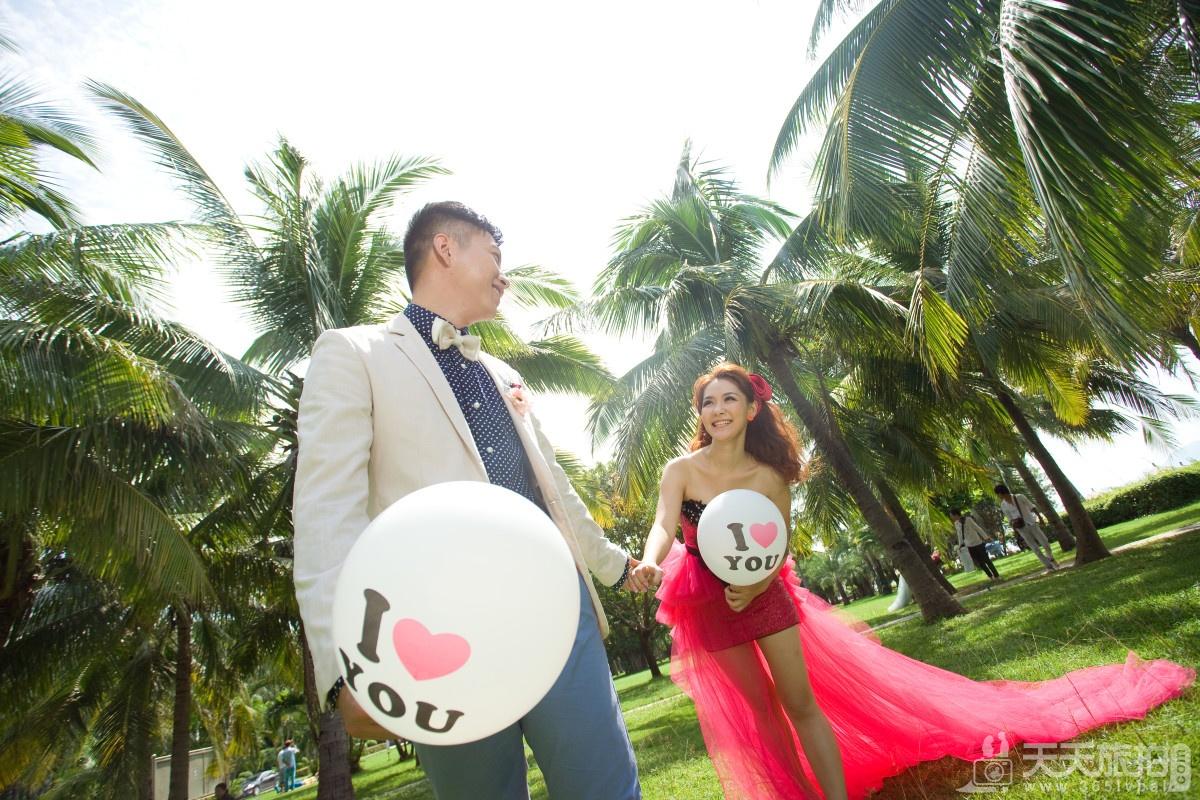三亚旅拍婚纱客照之椰梦长廊