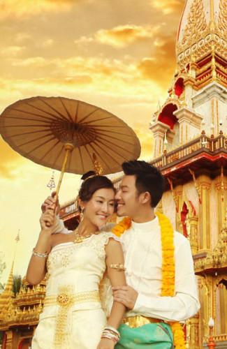 普吉岛旅游婚纱样照之查龙寺