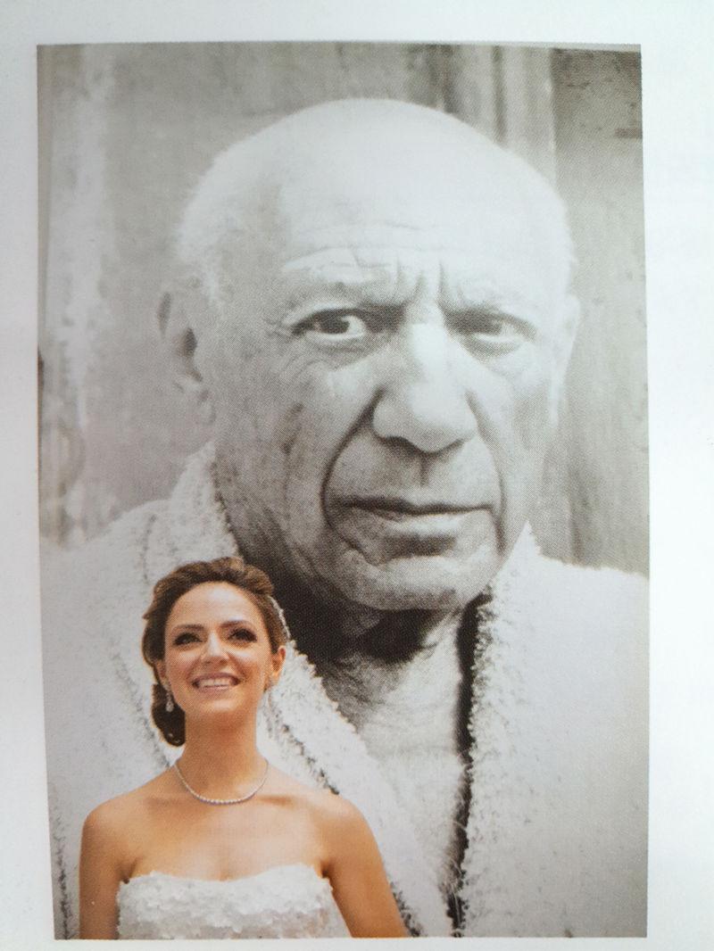 婚纱照中的表情对比