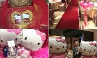 萌爆了!新娘只准备… Hello Kitty主题婚礼很有Fu