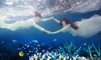水下婚纱照怎么呼吸?