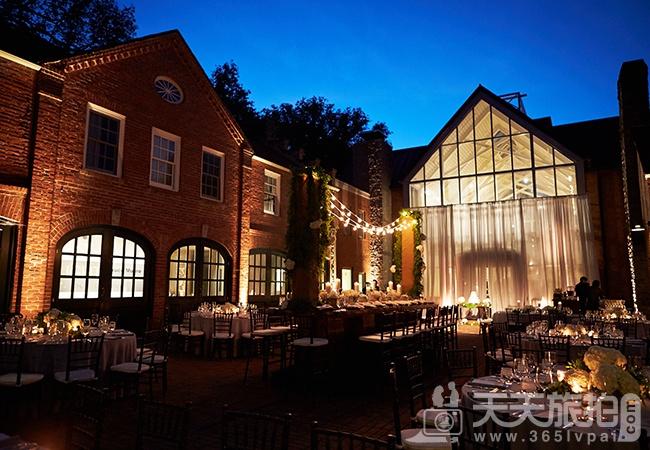 21个户外婚礼  唯美浪漫餐桌布置