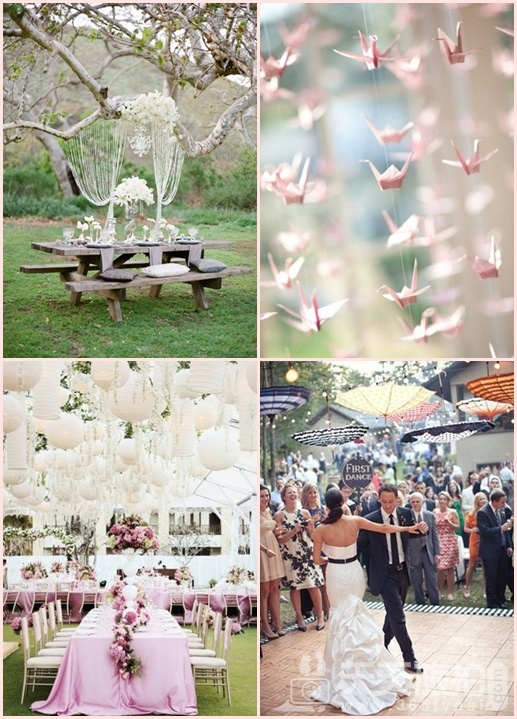 婚礼布置DIY~17种庄园婚礼悬挂设计 - 1