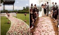 婚礼布置 – 花瓣红毯设计