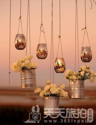 婚礼布置DIY~17种庄园婚礼悬挂设计 - 6