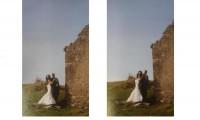 婚纱摄影技巧之新娘在新郎身后
