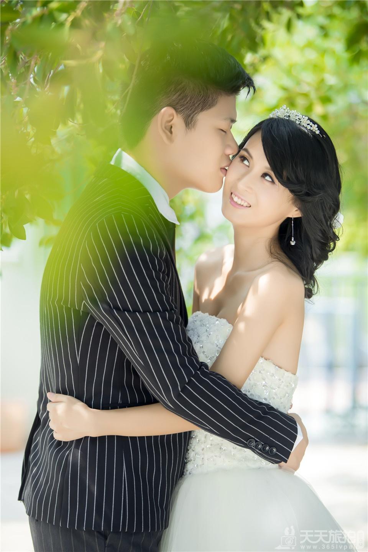 韩式清新唯美婚纱照片