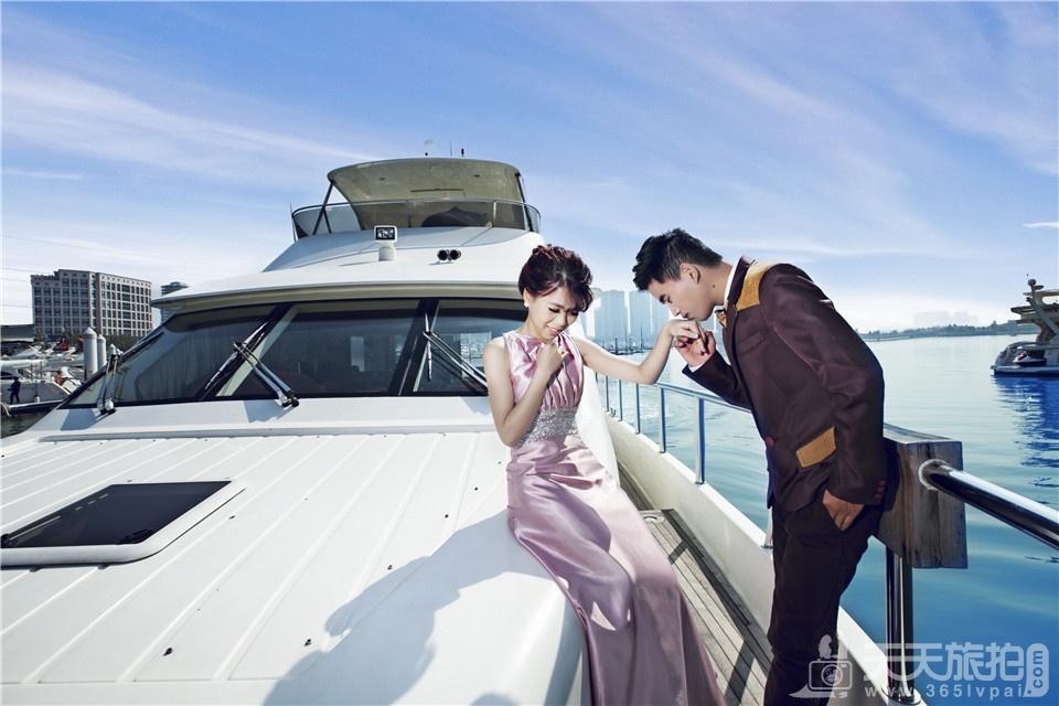 海边游艇婚纱照2