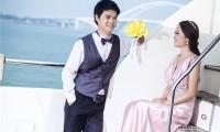 夏日游艇婚纱照