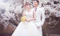 韩式婚纱摄影花海内景照片欣赏