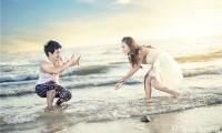 海边休闲风格婚纱照片欣赏