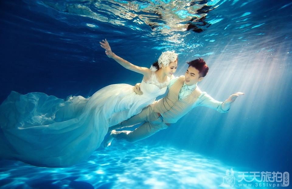 水底婚纱拍摄