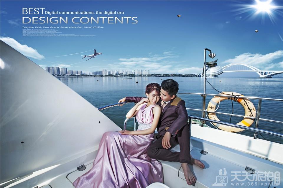 海边游艇婚纱照4