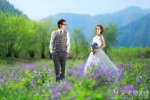 高个子的新娘应该怎么拍摄户外婚纱照