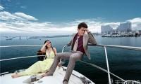 厦门游艇婚纱照,海上婚纱摄影的享受
