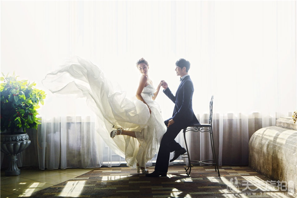 室内唯美韩式婚纱照