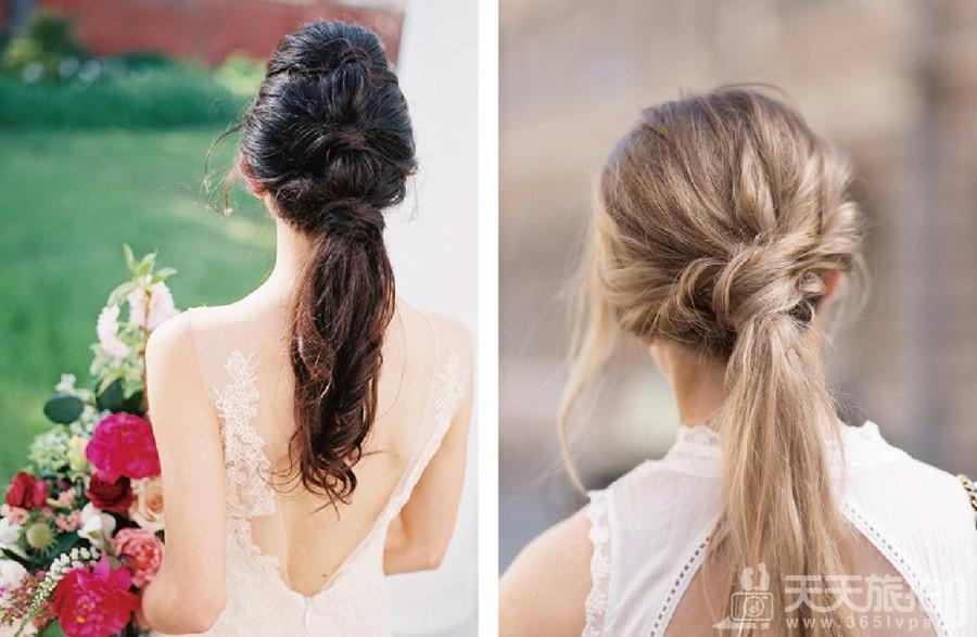 伴娘造型推荐分享 气质新娘不可错过的低马尾发型【6】
