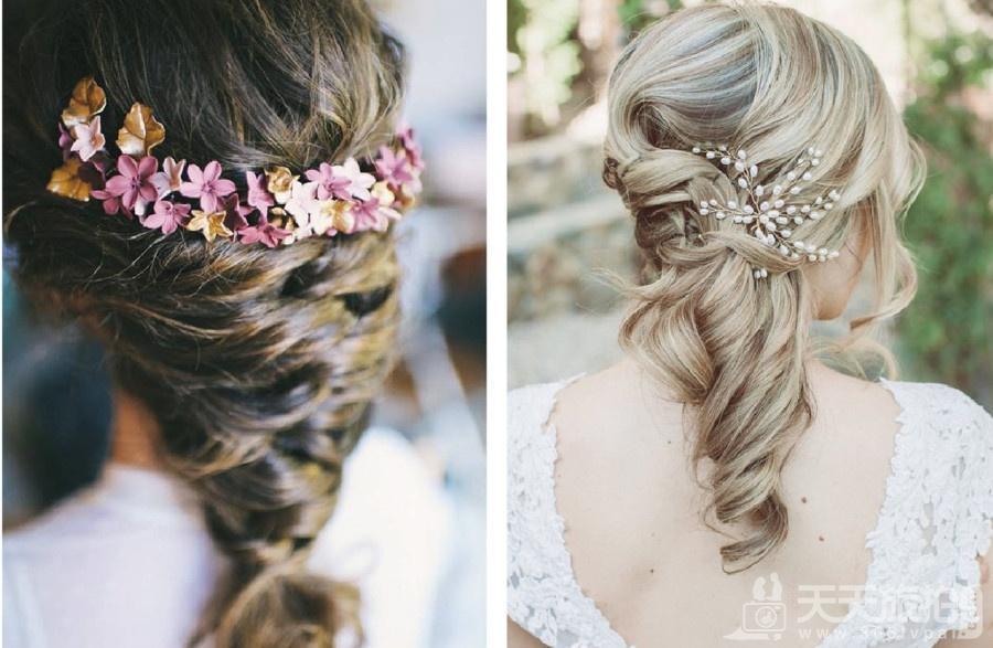伴娘造型推荐分享 气质新娘不可错过的低马尾发型【7】