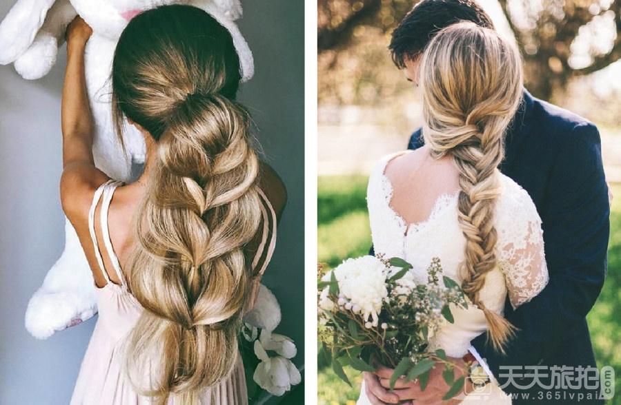 伴娘造型推荐分享 气质新娘不可错过的低马尾发型【3】