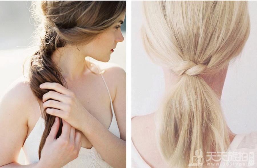 伴娘造型推荐分享 气质新娘不可错过的低马尾发型【2】