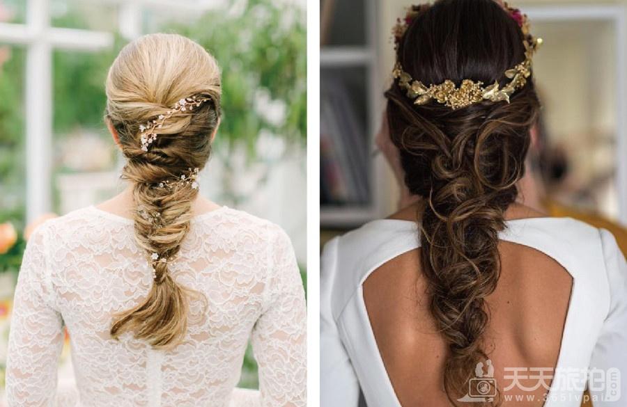 伴娘造型推荐分享 气质新娘不可错过的低马尾发型【5】