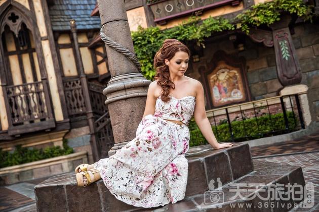白马王子再等等吧!一个人拍也能很美丽的迪士尼婚纱摄影【7】