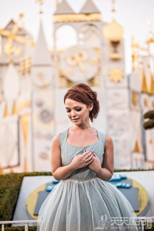 白马王子再等等吧!一个人拍也能很美丽的迪士尼婚纱摄影【3】