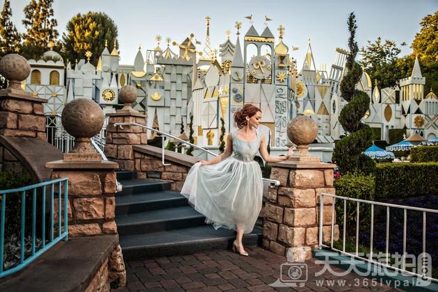白马王子再等等吧!一个人拍也能很美丽的迪士尼婚纱摄影【9】