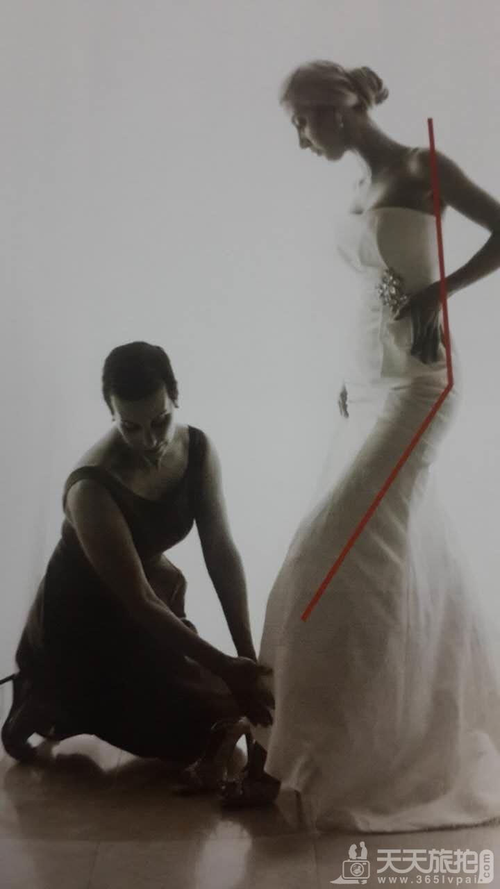 婚纱摄影的自然姿势