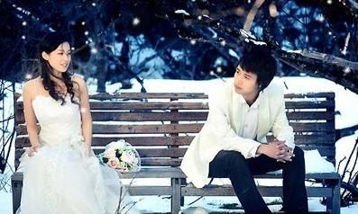 冬季拍婚纱照