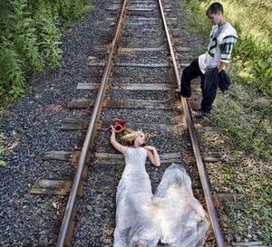 另类婚纱照欣赏有创意才有激情【5】
