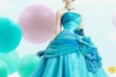 俏皮媚新娘 春季清新亮丽糖果色婚纱
