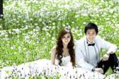 北京外景拍摄婚纱照感受像花儿一样的幸福