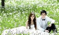 北京外景拍摄婚纱照   感受像花儿一样的幸福