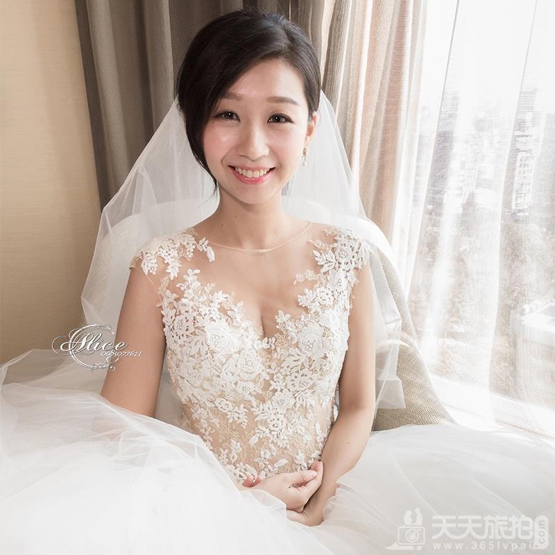 短发新娘必看 简单打造属于妳的独有气质【1】