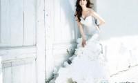 韩国女演员金莎朗西班牙婚纱写真图片