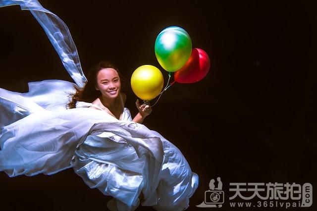 圆美人鱼童话世界梦——水下婚纱照摄影【5】
