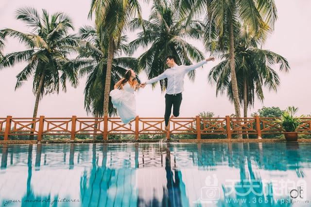 圆美人鱼童话世界梦——水下婚纱照摄影【7】