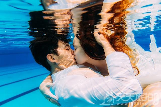 圆美人鱼童话世界梦——水下婚纱照摄影【8】