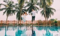 圆美人鱼童话世界梦——水下婚纱照摄影