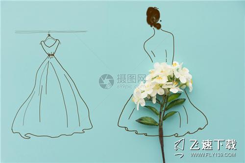 拍婚纱照内衣还是胸贴 如何选胸贴效果更佳(图片来源:摄图网)