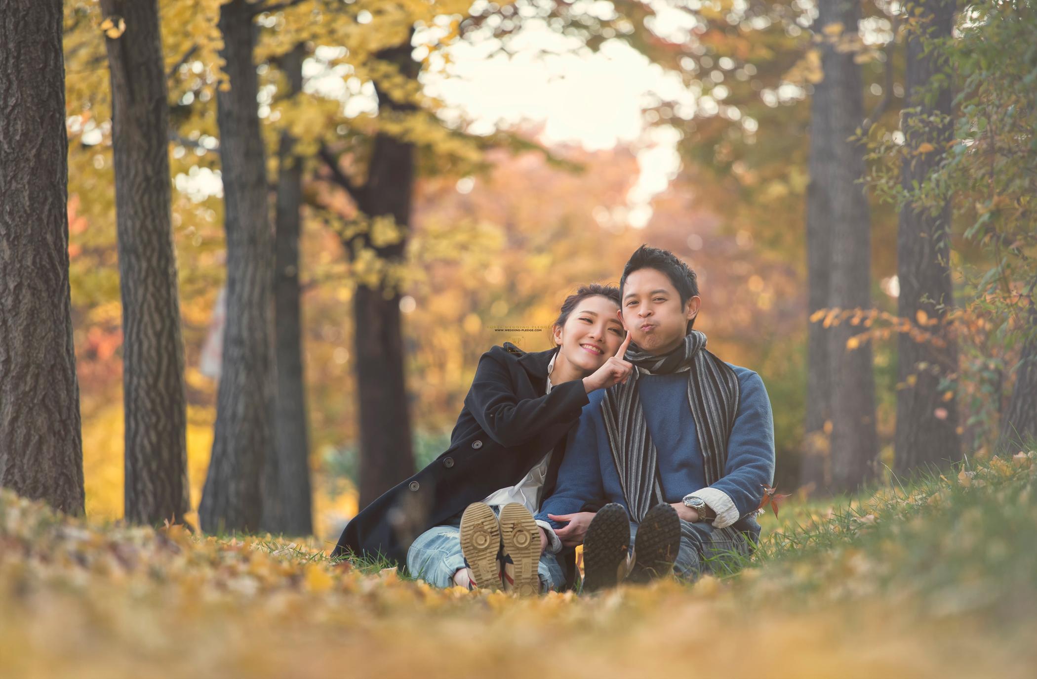 别浪费了秋季的绚烂景色 秋天婚纱照欣赏【9】