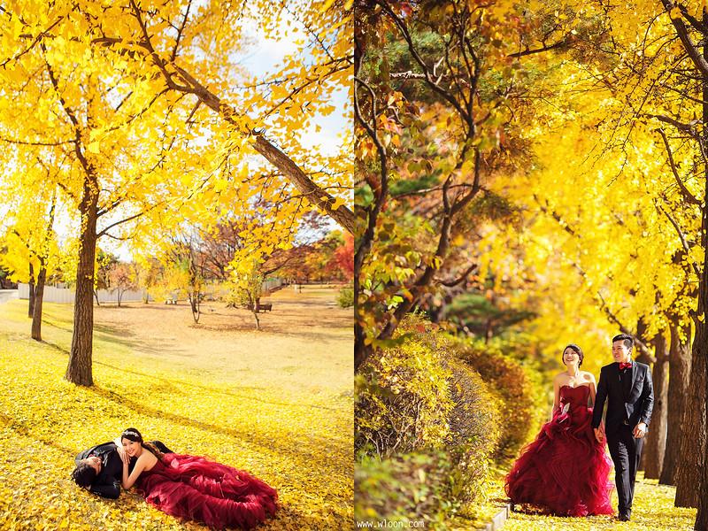 别浪费了秋季的绚烂景色 秋天婚纱照欣赏【16】