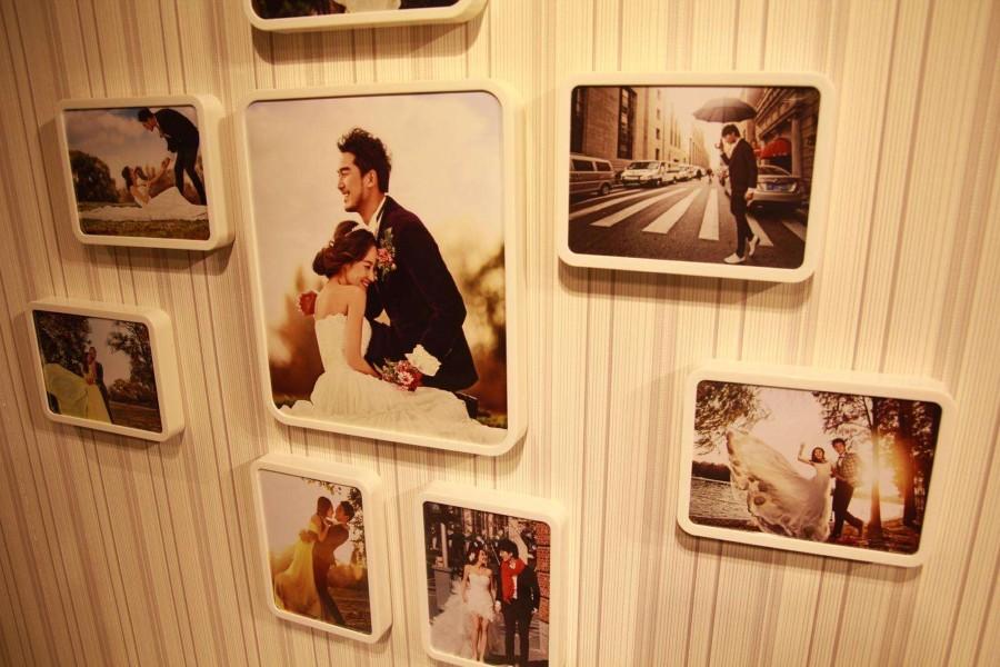 共同分享自己的幸福 婚纱照怎么挂墙上